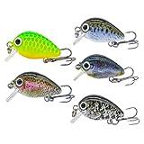 Stylelove Mini Crankbaits Esche da Pesca Immersioni superficiali Esche subacquee Nuoto Swimbaits Esche da Pesca 1.10 Pollici Attrezzatura da Pesca