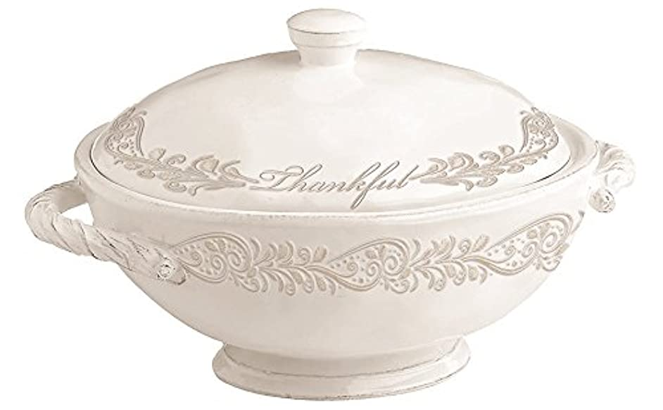 Divinity Boutique 24570 Thankful Collection Soup Tureen, Multicolor