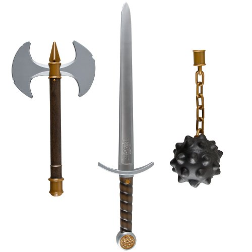 Disney / Pixar BRAVE Movie Exclusive Deluxe 3 Piece Weapon Set Sword, Axe Mace by Brave