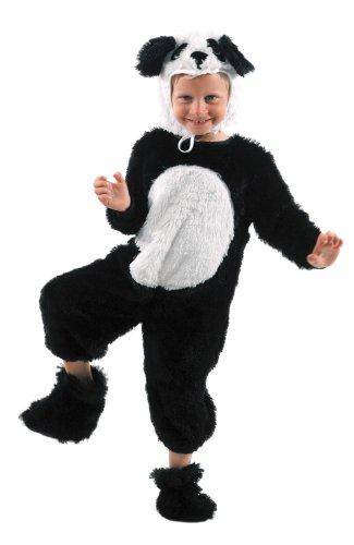 Party Pro- Déguisement de Panda, Boys, 87115035, Noir, 3-5 ans