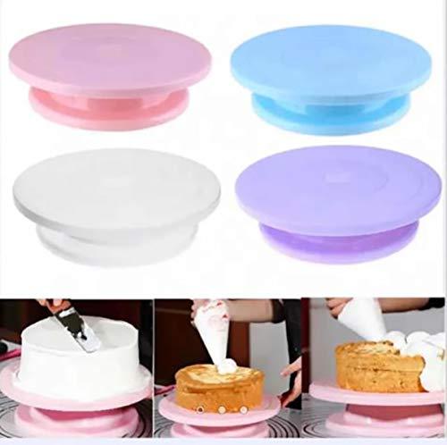 Trukeik Aleissi Base Soporte Giratoria para Decorar Pasteles Tarta Torta Reposteria Fondant Cocina (Rosa)