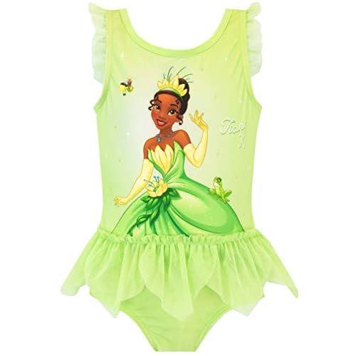 Disney Costume da Bagno per Ragazze Principessa e Il Ranocchio Tiana Verde 2-3 Anni