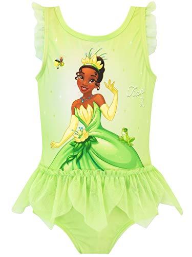 Disney - Maillot de Bain - La Princesse et la Grenouille Tiana - Fille - Vert - 4-5 Ans