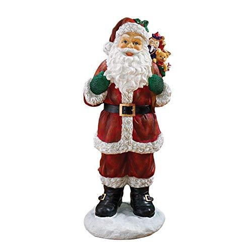 Design Toscano EU28288 Statua Natalizia Una Visita di Babbo Natale, 30.5x35.5x81.5 cm