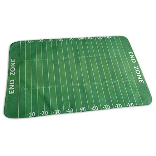 Voxpkrs Changing Pad Green American Football Field Striped Baby Diaper Urine Pad Mat Special Kids Mattress Pad Sheet for Any Places for Home Travel Bed Play Stroller Crib Car
