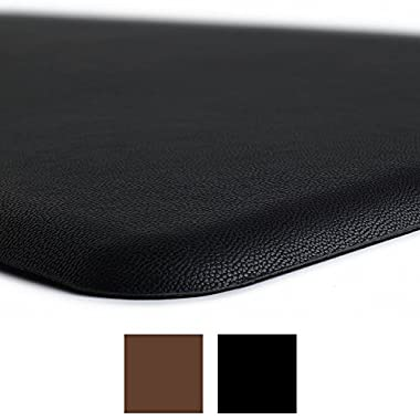 "Gorilla Grip Original Premium Anti-Fatigue Comfort Mat, Phthalate Free, Ergonomically Engineered, Extra Support Thick, Kitchen Office Standing Desk (32"" x 20"" x 1/2"", Black)"