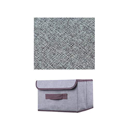 LXZFJW Cajas de Tela Caja de almacenaje apilable para ordenar armarios Zapatos o Ropa Organizador de armarios con Tapa y ventanilla(Size:38×25×25cm,Color:Gris)