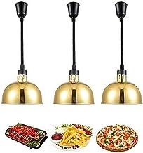 , 3 paquet de chauffe-aliments commerciaux avec ampoule infrarouge 250W, lustre télescopique rétro rétro industriel for le...
