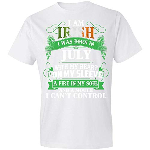 Green Shamrock, I Am Ir-ish with My Heart On My Sleeve A Fire in My S-OUL, Best Gift for Birth-Day in Ju-ly, Best St Patricks Gift for Men Women - Blnl20012109 T-Shirt,Gift