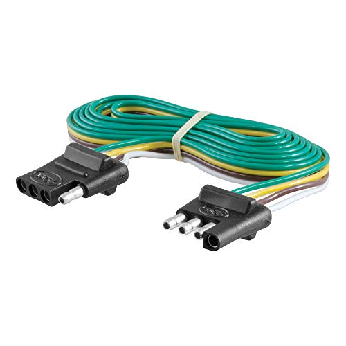 CURT 58050 Vehicle-Side and Trailer-Side 4-Pin Flat Wiring Harness with 72-Inch Wires