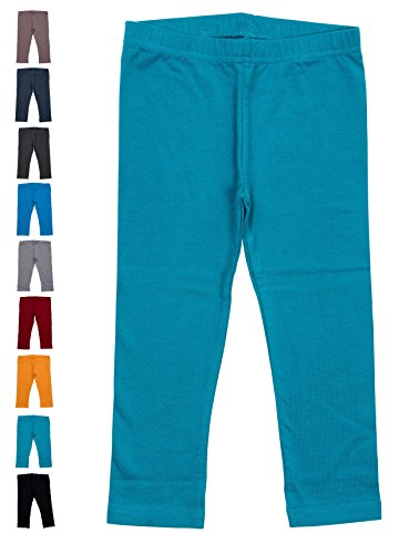 Baby and Toddler Leggings - Teal 6-12 Months