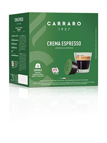 Caffè Carraro, selezione Crema Espresso, Compatibili Dolce Gusto, 6 Astucci da 16 Capsule: 96 Capsule.