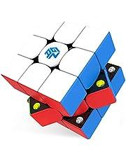 【 国内正規品 】GAN 356 M スピードキューブ 競技用 3×3 Gans 磁石内蔵 lite ステッカーレス 版 磁石 GAN CUBE 【ONOオリジナルクリーニングクロス 1年保証書 日本語手順書付 】