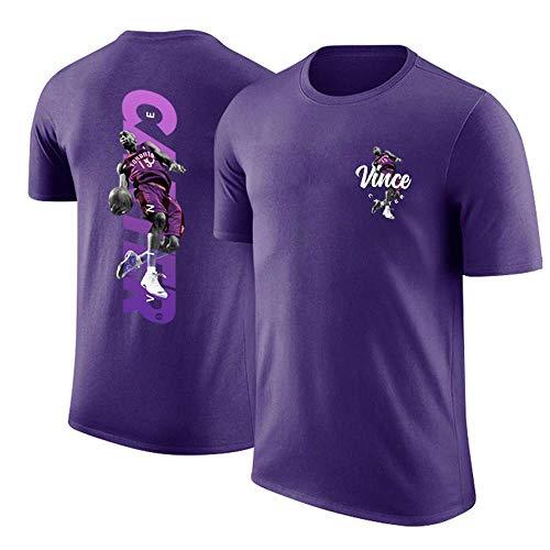 Camiseta Conjunta Raptors Vince Carter se retiró la Camiseta de Manga Corta de Baloncesto Retro purple-2XL