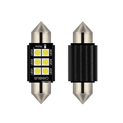2pcs lampada a siluro FESTOON C5W 36MM LED bianco puro Canbus SMD Luce targa DC 12V