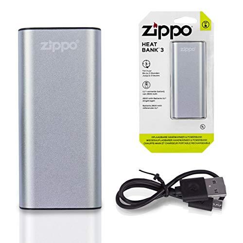 Zippo 2005820 HeatBank 3-Silver (DE/NL/FR), Aluminium und Kunststoff, Silber