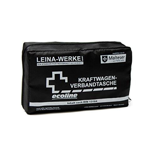 *LEINA-WERKE 11034 KFZ-Verbandtasche Compact Ecoline ohne Klett, Schwarz/Weiß*