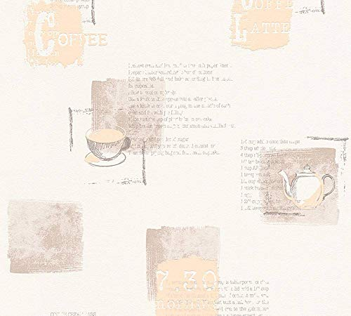 A.S. Création Vliestapete Kitchen Dreams Tapete Küchentapete 10,05 m x 0,53 m beige braun creme Made in Germany 327331 32733-1