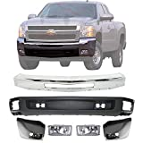 Front Bumper Chrome Steel + Lower Valance Air...