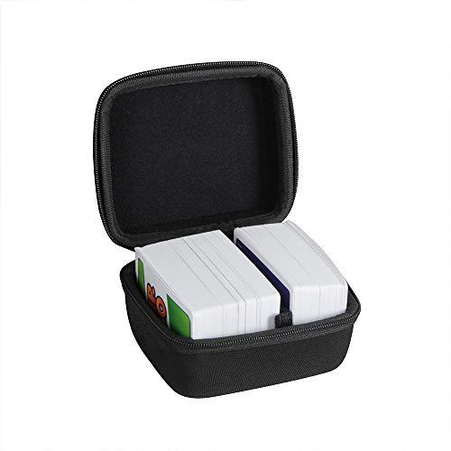 Hermitshell Hartschalen-Reisetasche für Skip BO + UNO Kartenspiel/Skip BO + Phase 10 Kartenspiel. Passt bis zu 300 Karten. Karten nicht im Lieferumfang enthalten (schwarz)