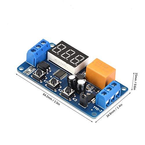 Módulo de interruptor de temporizador de retardo de control de tiempo de ciclo ajustable programable antiinterferencias para motores de control Bombillas