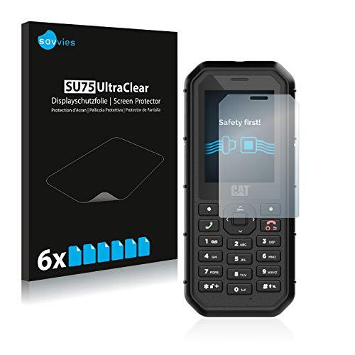 Savvies 6X Schutzfolie kompatibel mit Caterpillar Cat B26 Bildschirmschutz-Folie Ultra-transparent