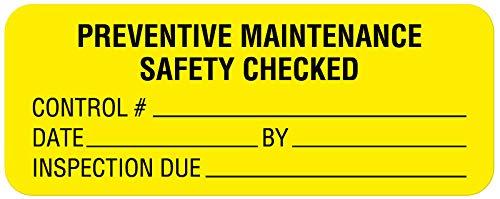 Equipment Repair and Maintenance Label 8