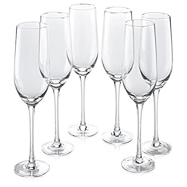 Classic Flute Champagne Glasses (14 Ounce)