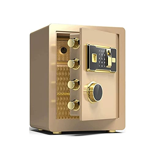 KJLY Cajas de seguridad, cajas fuertes para el hogar, cajas de seguridad para gabinete, seguridad con contraseña de huellas dactilares, cajas de seguridad para casa (color: A)