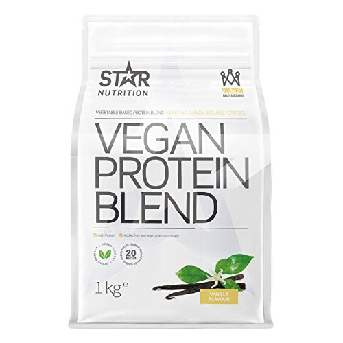 Star Nutrition   Vegan Protein   Contains Vitamins and Minerals   Dairy Free   Gluten Free Protein Shake   Before & After Workout   1 KG   Vanilla