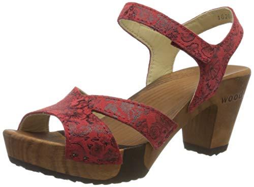 Woody Damen Carmen Pantoletten, Rot (Sandia 040), 40 EU