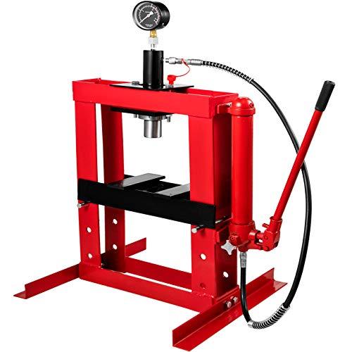 OldFe 10 T Hydraulikpresse Rahmenpresse 350 mm Werkstattpresse mit separater Hydraulikpumpe 375 mm Hydraulik Presse Werkzeug