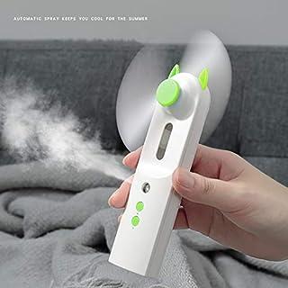 HZWLF Ventilador USB de Mano portátil 2 en 1 rociador de Agua Niebla eléctrica Recargable Mini Aire Acondicionado Aire Acondicionado humidificador para Exterior