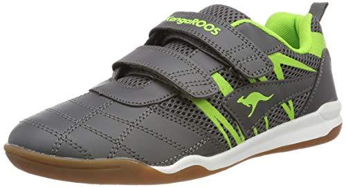 KangaROOS Unisex-Kinder Court Comb V Sneaker, Grau (Steel Grey/Lime 2014), 36 EU