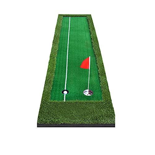 DGFDS Golf Puttingmatten Golf Übungsmatte Golf Matte Nylon Putting Green Matte Zweifarbige Grasgolfmatte 3m (Color : B, Größe : 50X300CM)