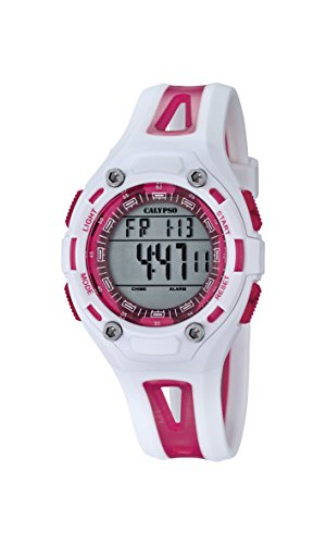 Calypso K5666/3 - Reloj de Pulsera Unisex, Plástico, Color Blanco