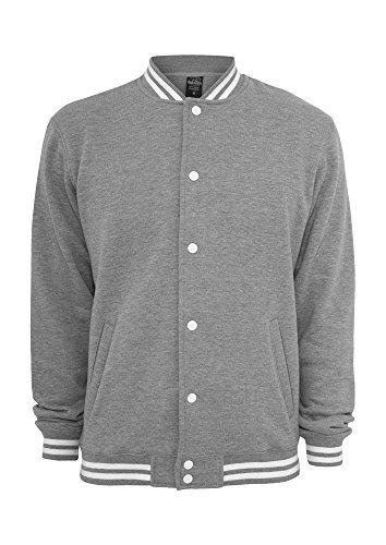 Urban Classics College Sweatjacket / Jacke Grey - S