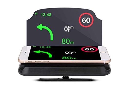 Rete vibrante rossa auto head-up display proiezione di navigazione staffa creativa, display di ingrandimento, GPS GM Navigation HUD immagine specchio proiettore per smartphone