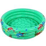 Piscina gonfiabile rotonda per bambini , Piscina gonfiabile per bambini Piccola piscina verde Kiddie Piscina per bambini Gioco d'acqua Casa Indoor Outdoor Per bambini((120 cm / 47,2 pollici verde))