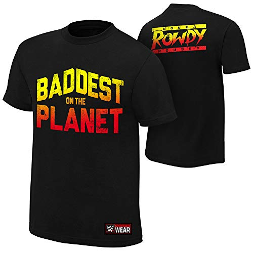 WWE Ronda Rousey Baddest on the Planet authentisches T-Shirt Gr. S, Schwarz