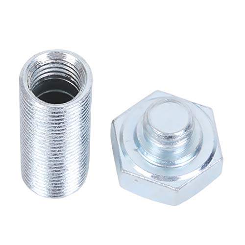 VWH Secret Bolt Container Sicher Versteckte Geheimnis Bolt Metall Schraube Lagerung Bargeld Geld Versteck Lagerung Stash Diversion Container Box (Silber)