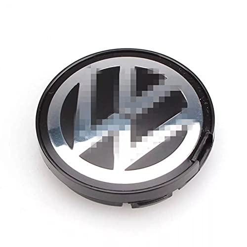 BASTKBOY Emblema de Logotipo de buje OEM, Tapa de Centro de Rueda de 55 mm, Cubierta de Cubo para VW Volkswagen Golf Jetta Passat GTI R32 Bora 6N0 601171