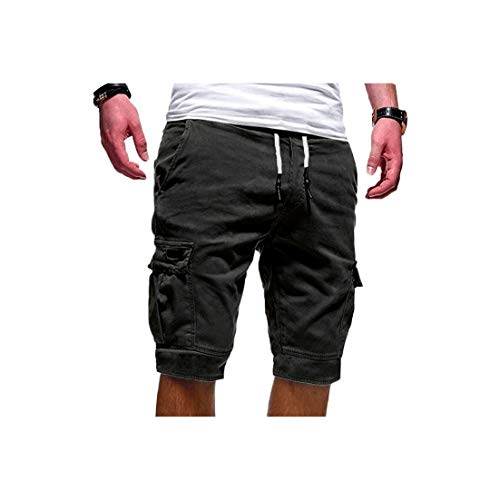 De Hot Rock Mens Shorts Fitness Mode Casual Korte Broek Shorts Mannen Multi Pocket Sport Shorts