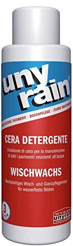 Hygan Unyrain - Cera detergente per pavimenti impermeabili, 1 l