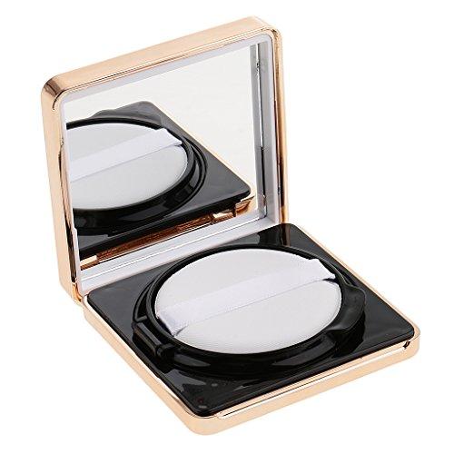 Homyl Portable Air Cushion Poudre Puff Boîte Palette avec Miroir pour Poudre Cosmétique, BB CC Crème, Fard à Joues Liquide - Blanc