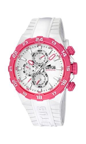 Lotus 15800/6 - Reloj analógico de Cuarzo para Mujer con Correa de plástico, Color Blanco