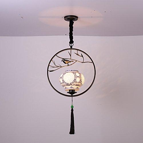 $éclairage Lustre oiseau moderne/Hall d'entrée/Couloir / Entrée/Créative Cage Personnalité Salon Restaurant Éclairage lumières intérieures (Couleur : Noir-9w)