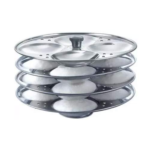 RDG Premium Quality Idli Stand 4 Plate Standard Idli Maker (4 Plates, 16 Idlis)