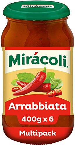 MIRÁCOLI Pasta Sauce Arrabiata, 6 Gläser (6 x 400g)