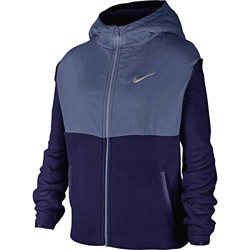 Nike Kinder Therma Full Zip Plush Hoodie, Blue Void/Mystic Navy, XL